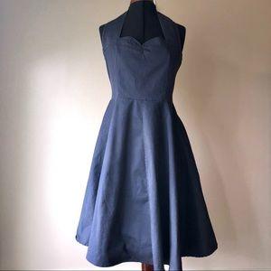 Zaful retro 50's pin up style blue cotton dress